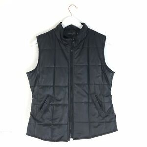 Pineapple-Gillet-Quilted-Padded-Black-Body-Warmer-Waistcoat-Vest-M-L-10-12