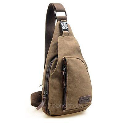 Men's Canvas Satchel Casual CrossBody Handbag Messenger Shoulder Bag Vintage