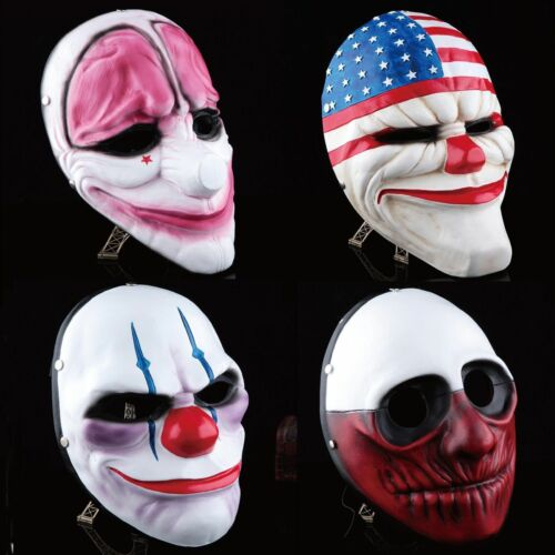 2020 Payday 2 Mask Heist Joker Costume Cosplay Prop Gift Game Board for Dallas @