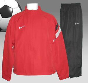 NUOVO-Nike-Uomo-Tiempo-Calcio-Tuta-Da-Ginnastica-Rosso-E-Nero-Piccolo