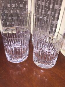 Miller-Rogaska-SOHO-fine-crystal-2-Hi-Ball-Glasses-amp-2-Double-Old-Fashion-Set