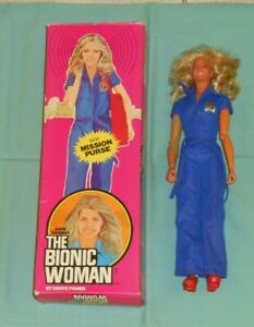 vintage Denys Fisher THE BIONIC WOMAN JAIME SOMMERS with ORIGINAL BOX