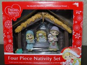 Precious-Moments-Nativity-Four-Piece-Set-Christmas-Decoration-Holy-Family-2017