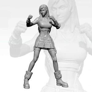 1-24-75MM-YUFAN-Girl-Fighting-King-Resin-Soldier-Model
