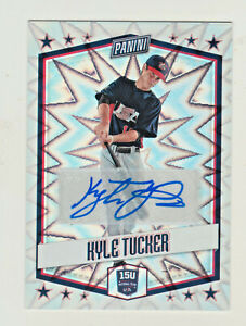 2018-Panini-Father-039-s-Day-USA-FOIL-REFRACTOR-AUTOGRAPH-KYLE-TUCKER-RC-AUTO-Astros