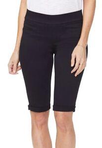 NYDJ Womens Shorts Black Size 16W Plus Bermuda Walking LiftXTuck $48- 265