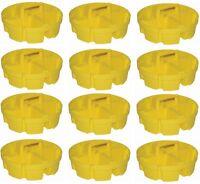 12 Ea Bucket Boss 15051 4 Compartment 5 Gallon Bucket Stacker Storage Organizers