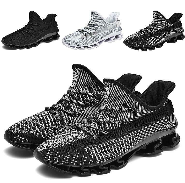 Fashion Mens Lace up Hollow out Breathable Athletic shoes Non-slip Ultra-light