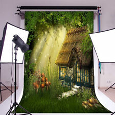 Cartoon Cottage In Forest Photography Backgrounds 5x7ft Vinyl Photo Backdrops