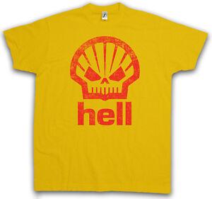 HELL-GASOLINE-T-SHIRT-Shell-Racing-Psychobilly-Custom-Tattoo-Hot-Rod-T-Shirt