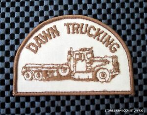 DAWN-TRUCKING-EMBROIDERED-SEW-ON-ONLY-PATCH-ADVERTISING-UNIFORM-3-7-8-x-2-1-2-034