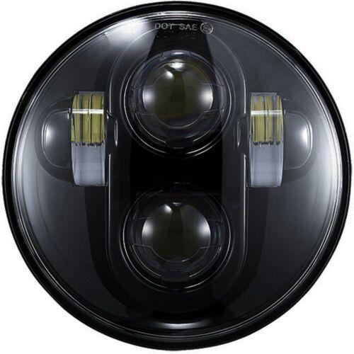 "5.75/"" 5 3//4/"" Projector Led Headlamp Headlight Black For Harley Dyna Sportster"