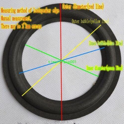 """1pcs 10/"""" inch 2//4-Line Selvage Speaker Cloth edge Audio surround Repair Parts"""