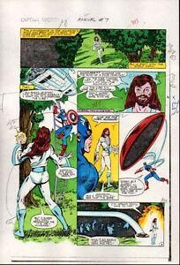 1983-Captain-America-Annual-7-page-8-Marvel-Comics-color-guide-art-1980-039-s