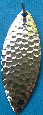 """Walleye Candy Willow Leaf Serrated Blades #4 Nickel Hex 1.872/"""" x .673/"""" BRASS"""
