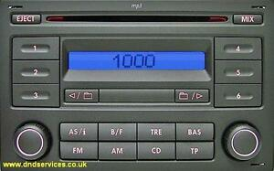 vw refurbished stereo radio mp3 cd rcd 200 golf polo. Black Bedroom Furniture Sets. Home Design Ideas