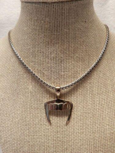 Silver Vampire Teeth Pendant