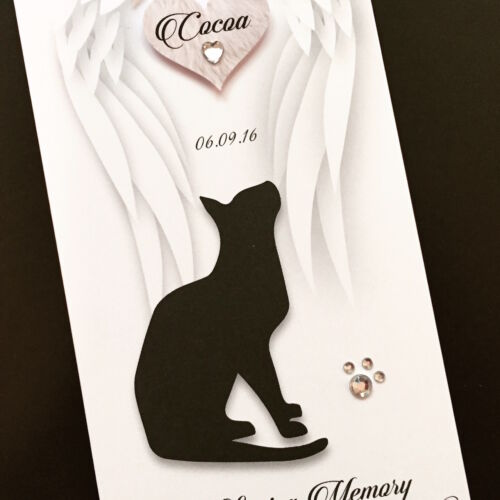 Personalised Handmade /'loss of your Dog//Cat/' Sympathy Card