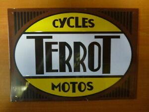 PB11F-PLAQUES-PUB-tolee-age-d-039-or-de-l-039-Automobile-n-55-20-29cm-CYCLES-TERROT