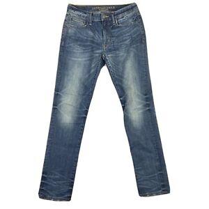 American Eagle Men's Jeans Size 31 x 32 Slim Straight Dark Wash Extreme Flex 4