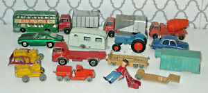 Lot-Of-Vintage-Lesney-Matchbox-Cars-Played-with-Bin12