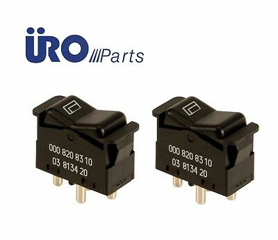 For Mercedes R107 380SL 560SL Pair Set of 2 Front Window Switch APA//URO Parts