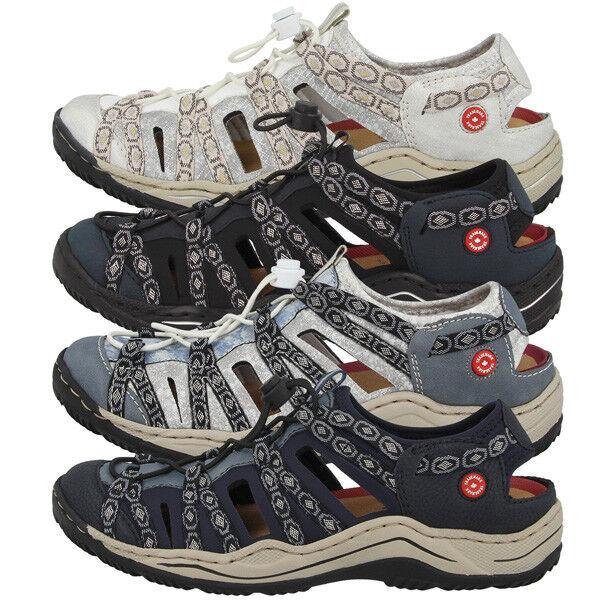 Rieker mujer mujer mujer Zapatos señora anti estrés ocio sandalias zapatillas Slipper l0577  punto de venta