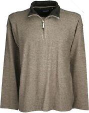 Ex Store Zip Neck Sweatshirt Brown Mix XL