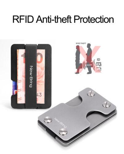 RFID Blocking 6 Key Holder Credit Card Case Metal Wallet Men Business Money Clip