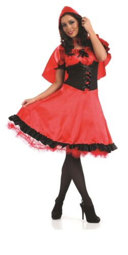 Ladies Red Riding Hood Costume Long Dress Fairy Tale Fancy Dress Womens Outfit