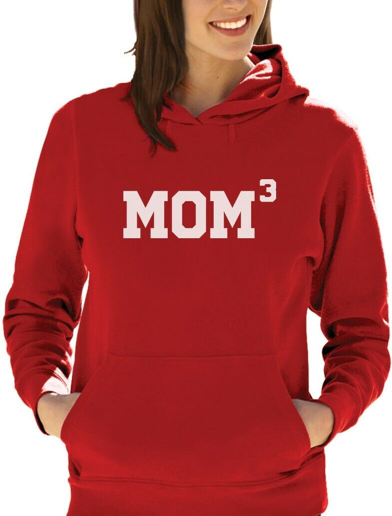 Mom3 - Mom Of Three Funny Mother's Day Gift Women Hoodie Xmas Gift