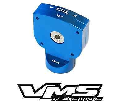 VMS Racing BLUE Engine Oil DIPSTICK HANDLE in Billet Aluminum for LS3 6.2L V8 GM Engines