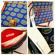 WOMENS DOONEY /& BOURKE BLUE MICHIGAN WOLVERINES DOUBLE ZIP CROSS BODY PURSE NWT