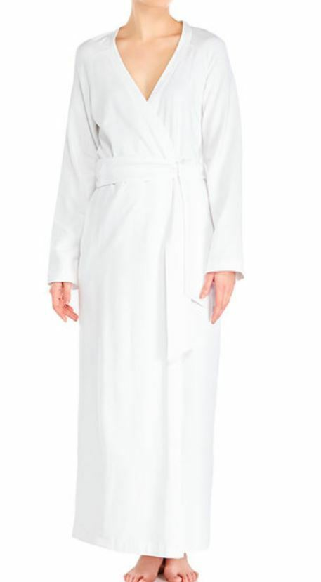 La Perla Villa Toscana M Long Cotton Robe White Full Length New