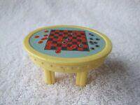 FISHER PRICE Loving Family Dollhouse CHECKER BOARD TABLE Checkers Checkerboard