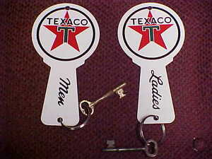 Bathroom Key Sign texaco restroom bathroom key fobs & rings 1950's - 1970&