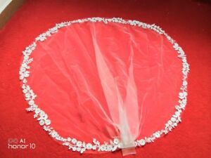 White-Ivory-Wedding-Veils-Elbow-Length-Lace-with-Comb-Bridal-Bride-Accessories