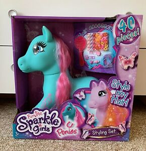 Funville Sparkle Girlz Ponies Pony Style Head Hair Styling