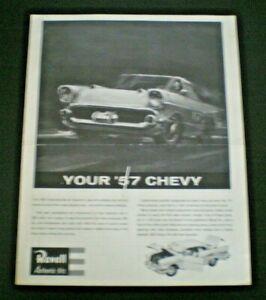 Revell-034-YOUR-57-CHEVY-034-Original-Model-Car-Instruction-sheet-1960-039-s