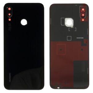 Original huawei p20 Lite Tapa batería Tapa de vidrio de cámara lente Touch ID negro B