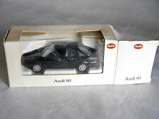 Audi 80 B3 QUATTRO in schwarz nero negro noir black, Schabak in 1:43 DEALER!