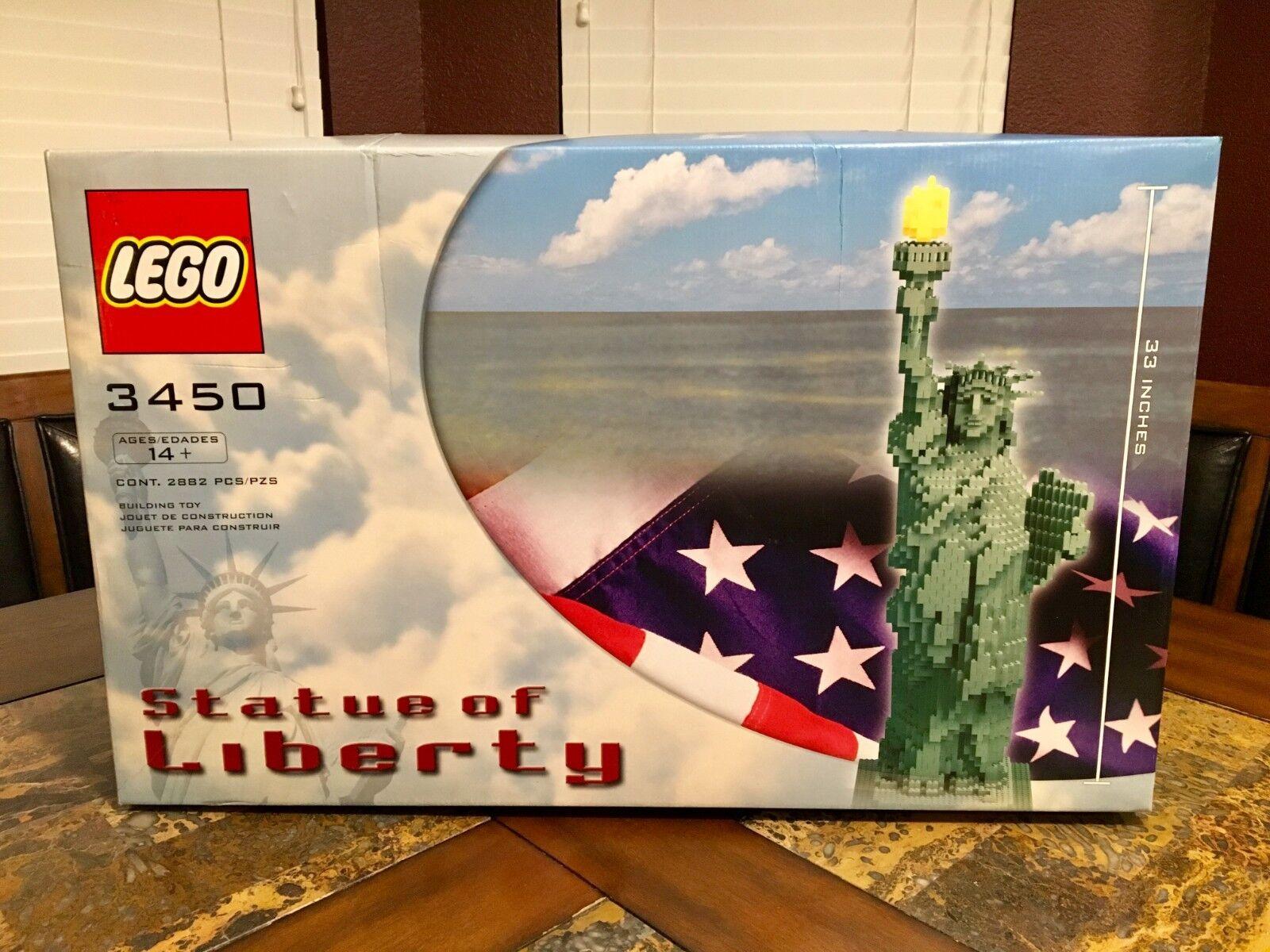 Lego Statue de la liberté 3450 sculptures 100% complet très rare