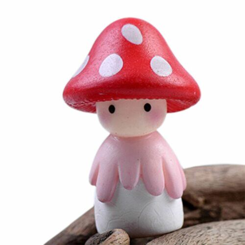 Miniature Fairy Garden Mushroom Doll Home Decoration Outdoor Decor A3F1