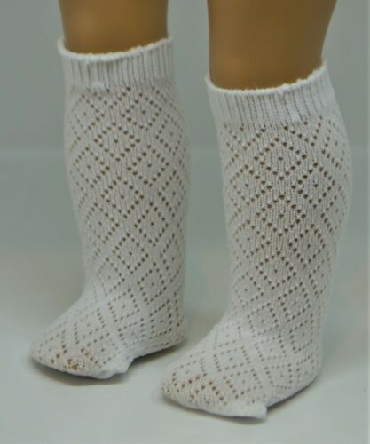 Stockings White with Diamond Design for 18 in American Girl Doll Clothes Socks