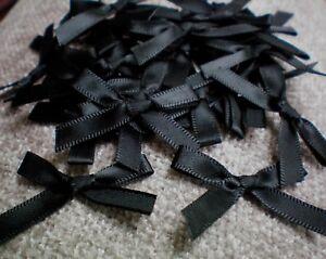 Petit 7 mm Noir Ruban Satin Arcs simple face 5 10 50 & 100 Craft Mariage-afficher le titre d`origine e4bxVCbW-07202637-310758776