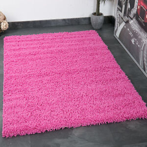 Alfombra prime tipo shaggy de pelo largo monocolor rosa fucsia ebay - Alfombras shaggy pelo largo ...