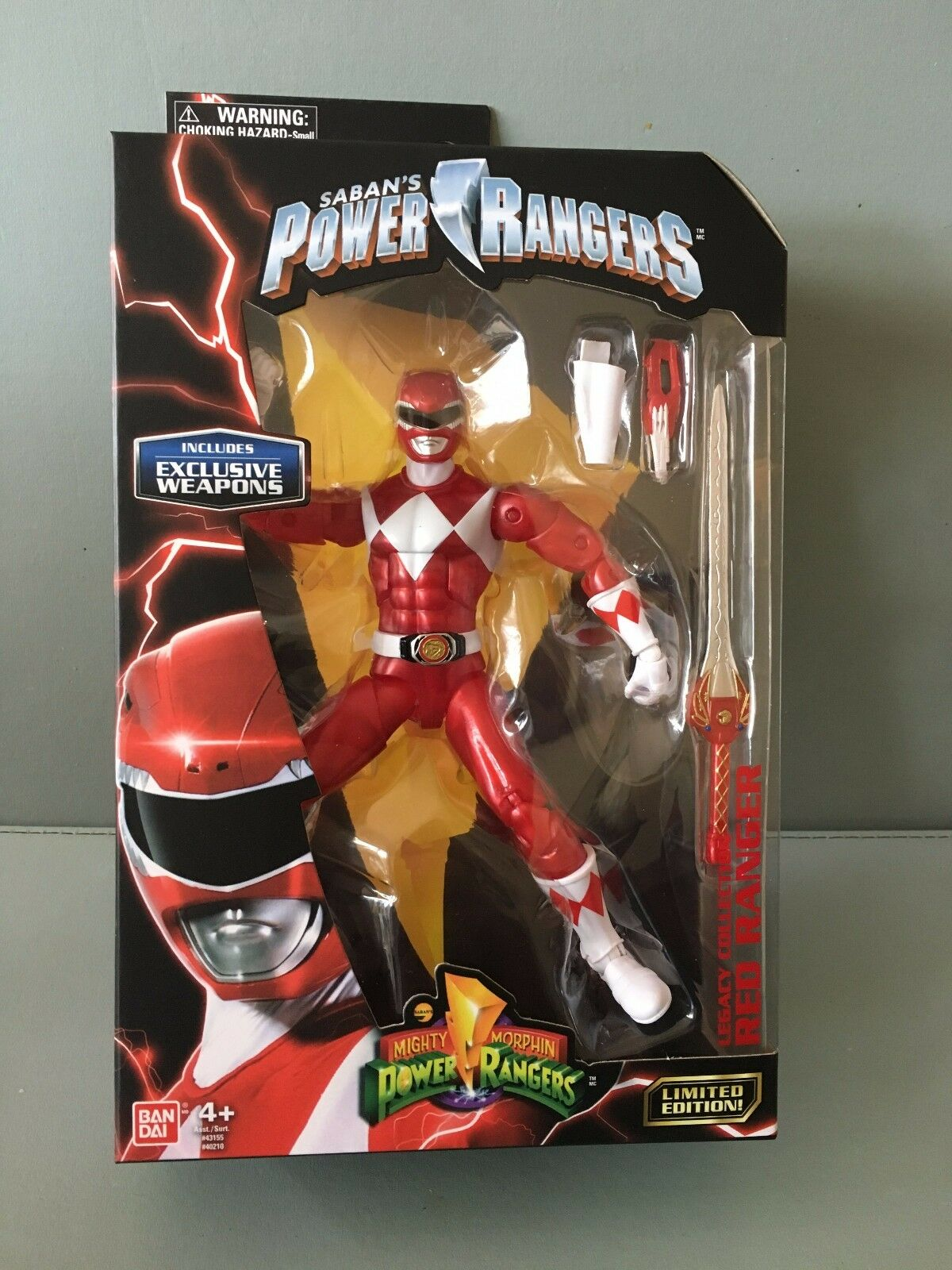 Power Ranger Legacy 16.5cm Metallic ROT Ranger MISB  New in sealed box
