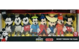 Disney Mickey Mouse 90th Anniversary Through the Years Set of 8 Plush Dolls NEW