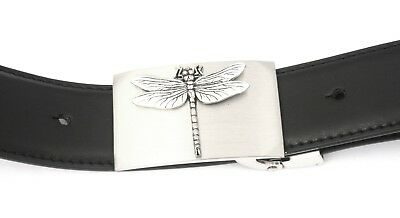 Ehrlichkeit Dragonfly Buckle And Belt Set Black Leather Ideal Wildlife Gift 110