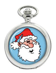 Weihnachtsmann-Santa-Klaus-Taschenuhr